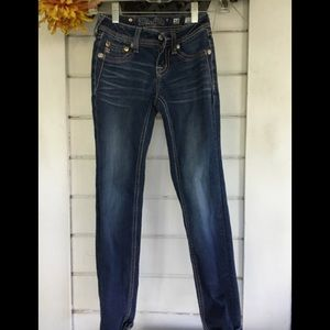 Miss Me Girls Distressed Blue Jeans